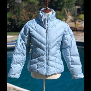Patagonia size S baby blue goose down puffer coat